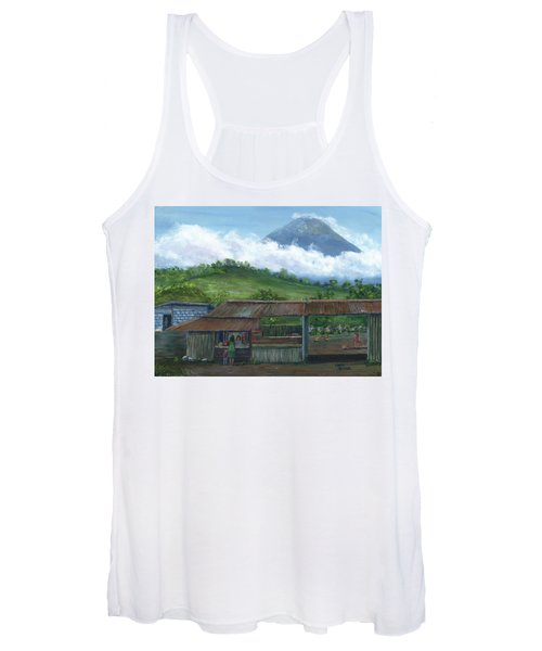 Volcano Agua, Guatemala, With Fruit Stand Women's Tank Top