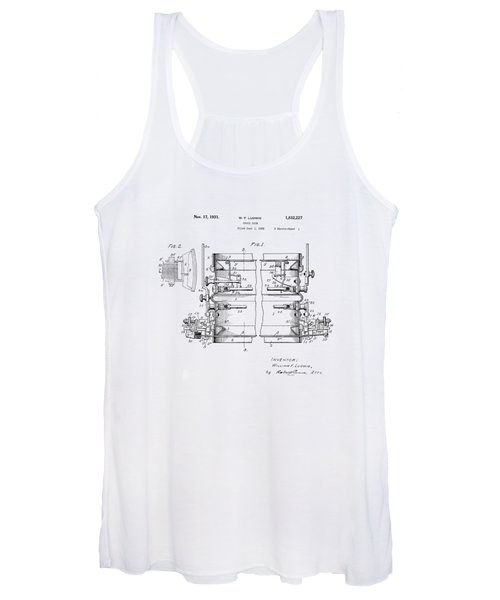 W F Ludwig Snare Drum Patent Women's Tank Top