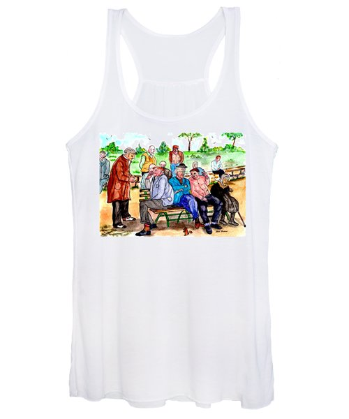 When Park Benches Were Filled With People Women's Tank Top