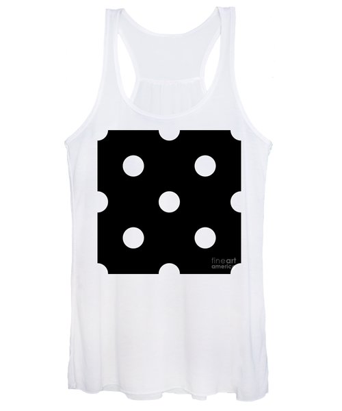 White Dots On A Black Background- Ddh612 Women's Tank Top