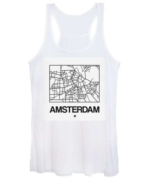 White Map Of Amsterdam Women's Tank Top