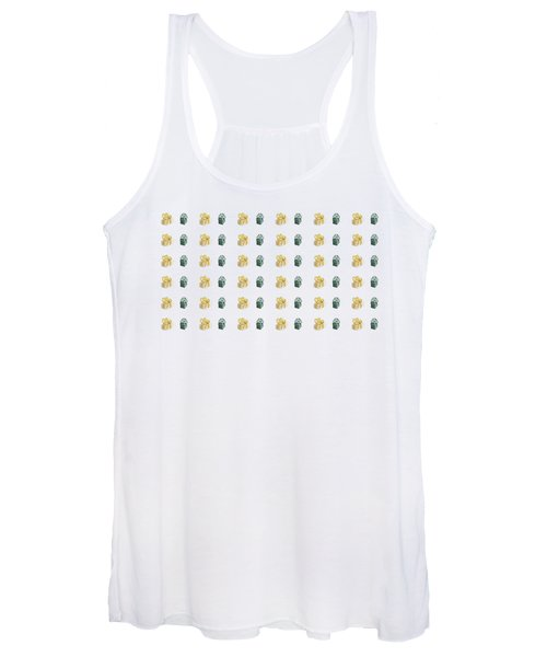 Yellow And Green Present Pattern Women's Tank Top
