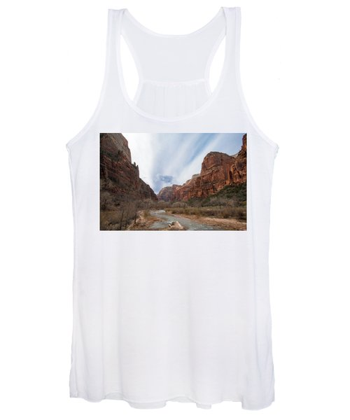 Zion National Park And Virgin River Women's Tank Top