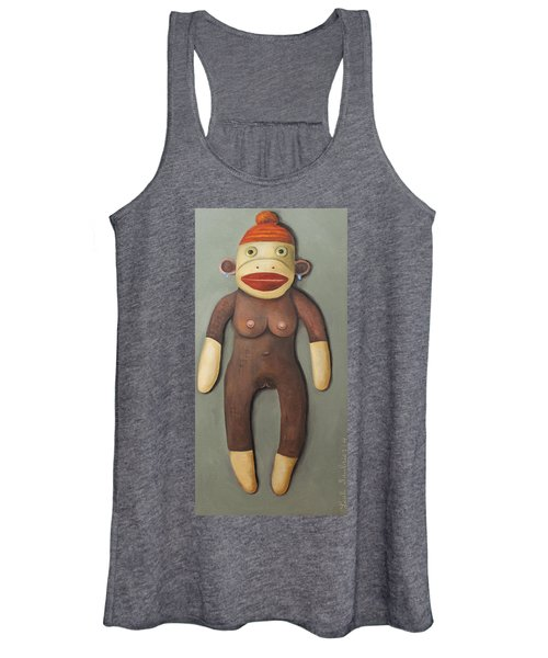 Anatomically Correct Female Sock Monkey Women's Tank Top