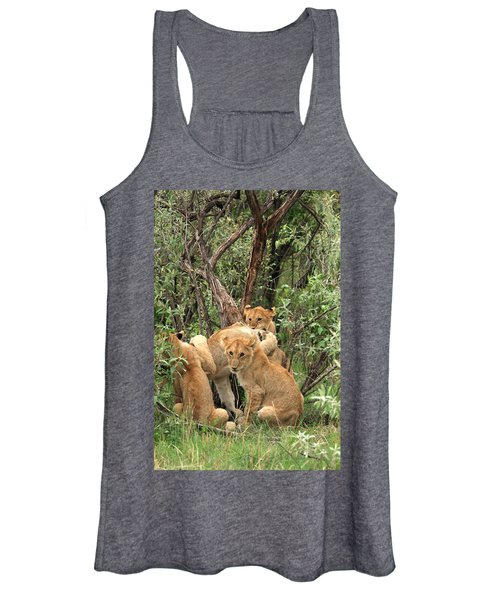 Masai Mara Lion Cubs Women's Tank Top