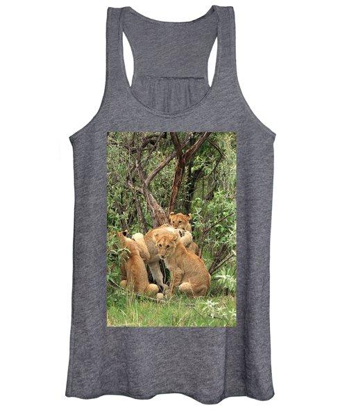 Masai Mara Lion Cubs Women's Tank Top