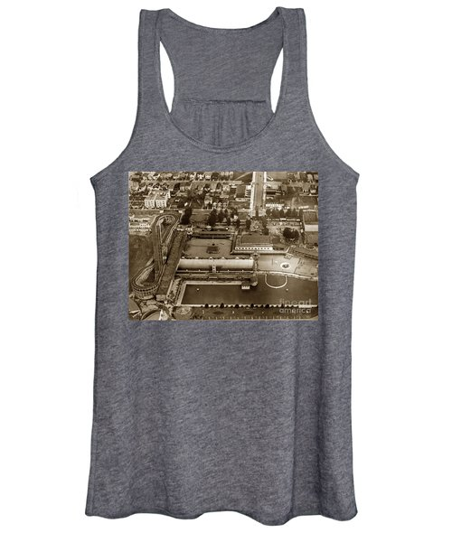 Neptune Beach Olympic Size Swimming Pool And A Roller Coaster Alameda Circa 1920 Women's Tank Top