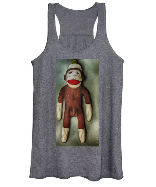 Anatomically Correct Male Sock Monkey Women's Tank Top