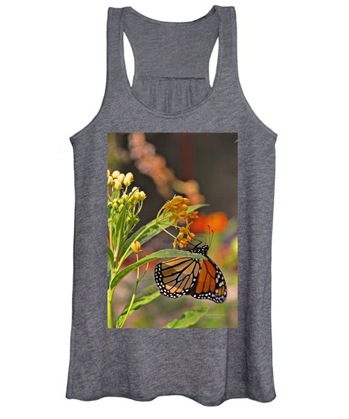 Clinging Butterfly Women's Tank Top