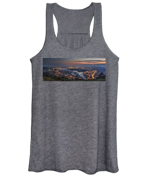 Ferrol's Ria Panorama From Mount Ancos Galicia Spain Women's Tank Top