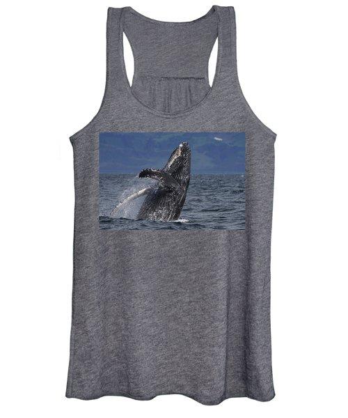 Humpback Whale Breaching Prince William Women's Tank Top