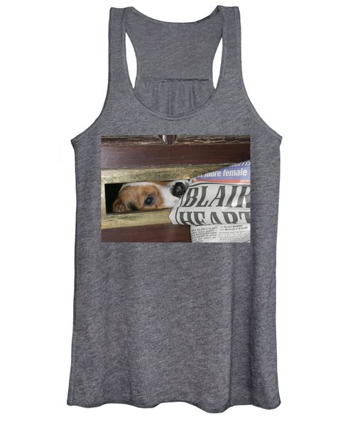 Jack Russell Terrier Gets Paper Women's Tank Top