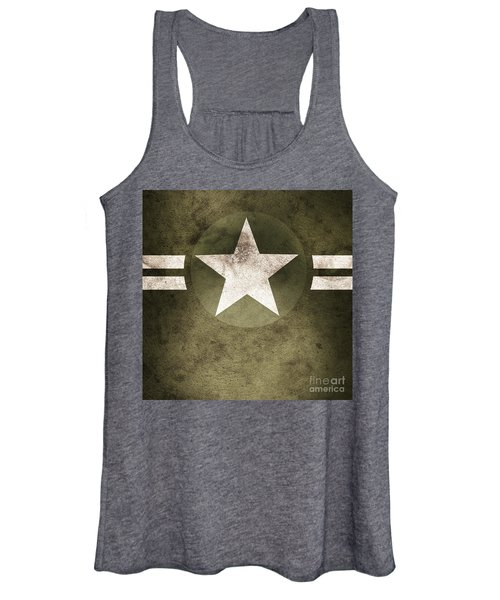 Military Army Star Background Women's Tank Top