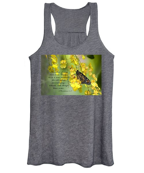Monarch Butterfly With Scripture Women's Tank Top