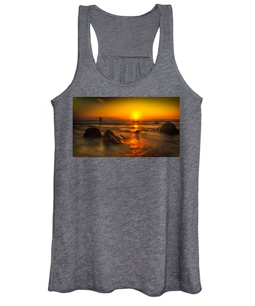 Montauk New York Summer Sunrise Women's Tank Top