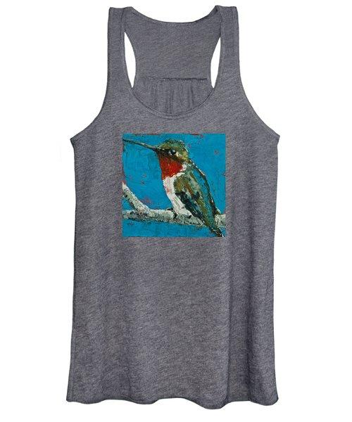 Ruby-throated Hummingbird Women's Tank Top