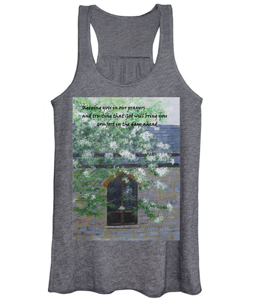 Sympathy Card With Church Women's Tank Top