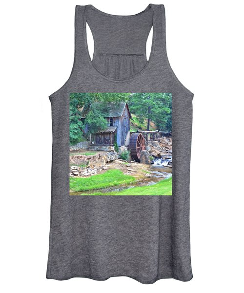 Sixes Mill On Dukes Creek - Square Women's Tank Top
