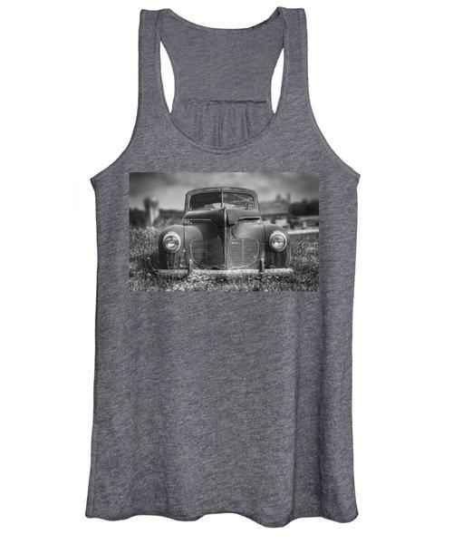 1940 Desoto Deluxe Black And White Women's Tank Top