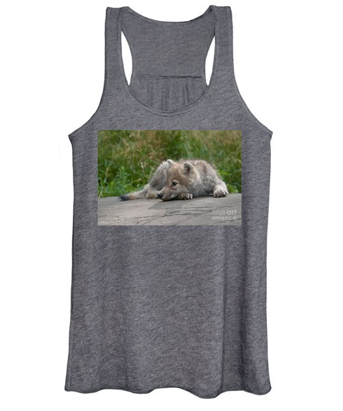 Arctic Wolf Pup Pictures Women's Tank Top