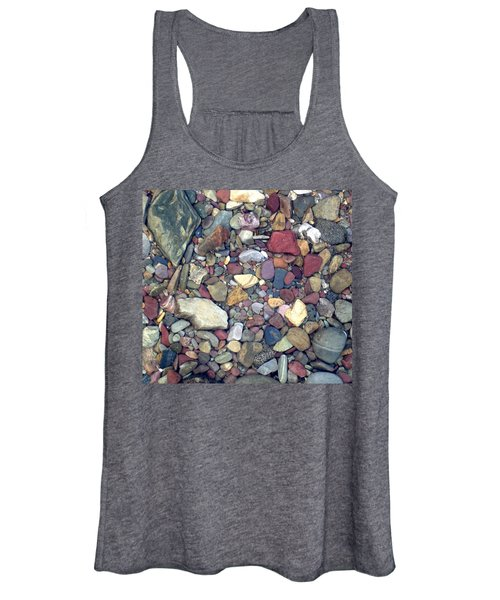 Colorful Lake Rocks Women's Tank Top