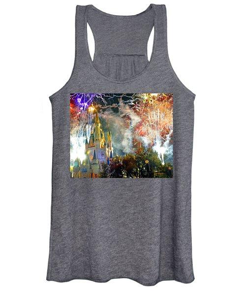 Fireworks Cinderellas Castle Walt Disney World Women's Tank Top