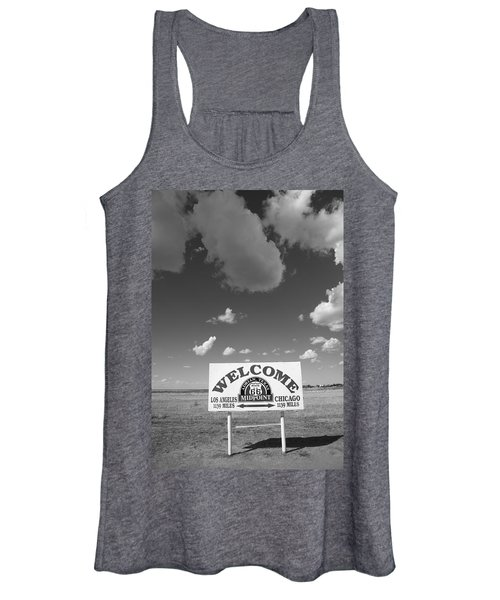 Route 66 - Midpoint Sign Women's Tank Top