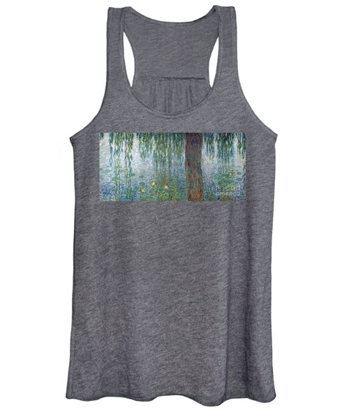Waterlilies Morning With Weeping Willows Women's Tank Top