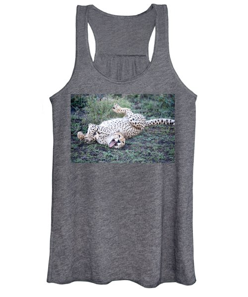 Cheetah Acinonyx Jubatus Resting Women's Tank Top