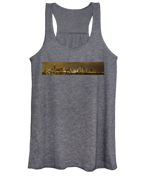 Chicago Skyline At Night Women's Tank Top