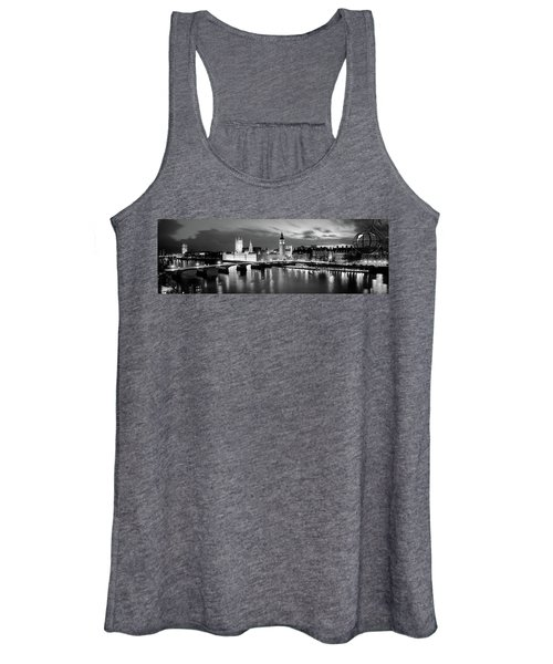 Buildings Lit Up At Dusk, Big Ben Women's Tank Top