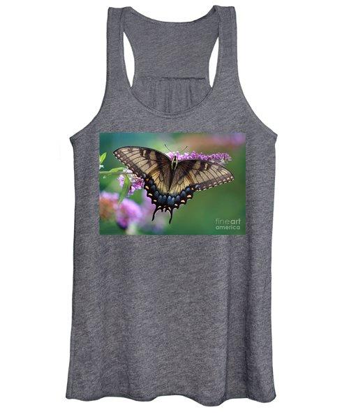 Eastern Tiger Swallowtail Butterfly On Butterfly Bush Women's Tank Top