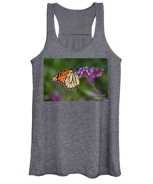 Monarch Butterfly In Garden Women's Tank Top