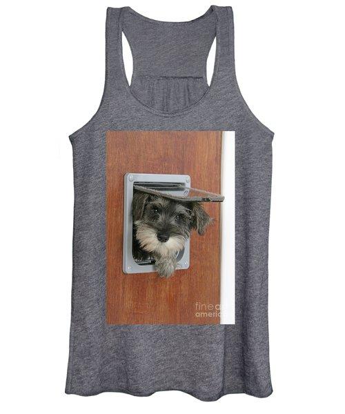 Schnauzer Puppy Dog Women's Tank Top