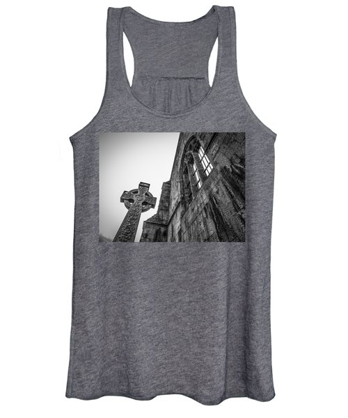 Women's Tank Top featuring the photograph 700 Years Of Irish History At Quin Abbey by James Truett