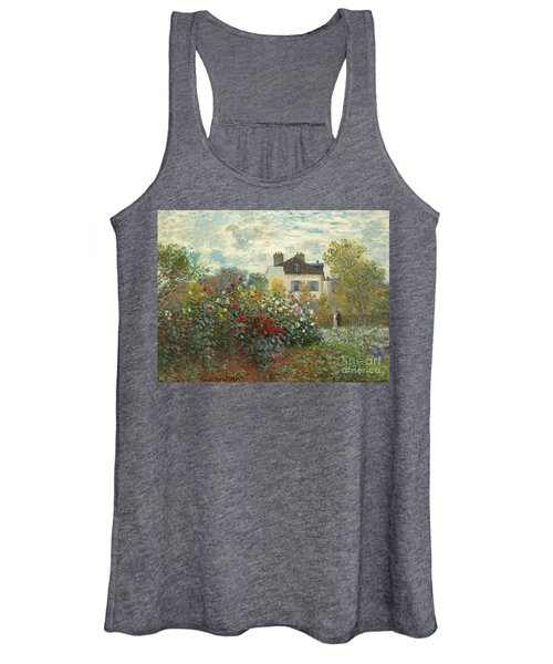 A Corner Of The Garden With Dahlias Women's Tank Top