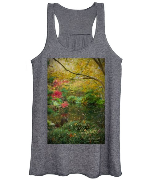 A Fall Afternoon With Message Women's Tank Top