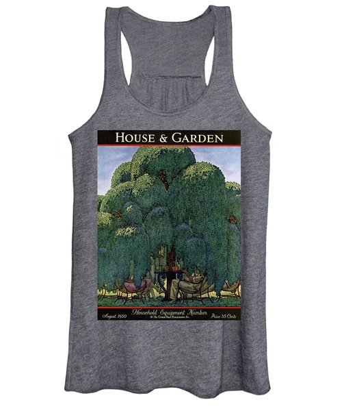 A House And Garden Cover Of People Dining Women's Tank Top