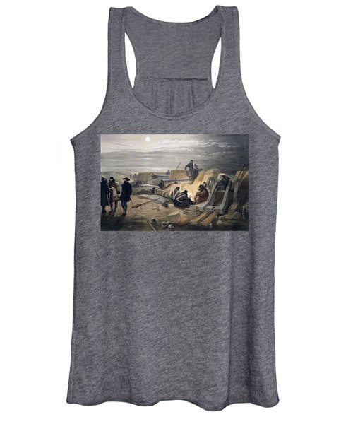 A Quiet Night In The Batteries, Plate Women's Tank Top
