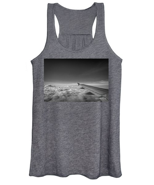 Above The Clouds Bw Women's Tank Top