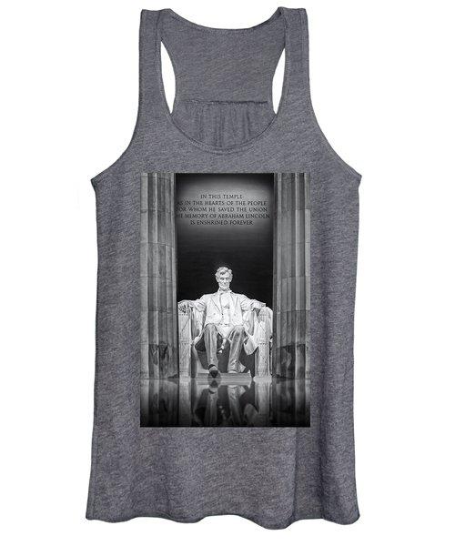 Abraham Lincoln Memorial Women's Tank Top
