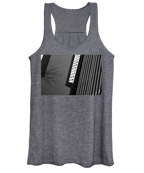 Abstract Building Patterns Black White Women's Tank Top