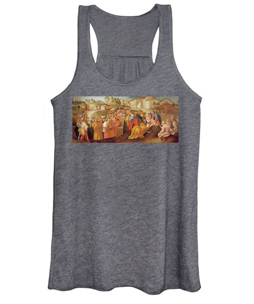 Adoration Of The Magi, Known As The Benintendi Epiphany Oil On Panel Women's Tank Top