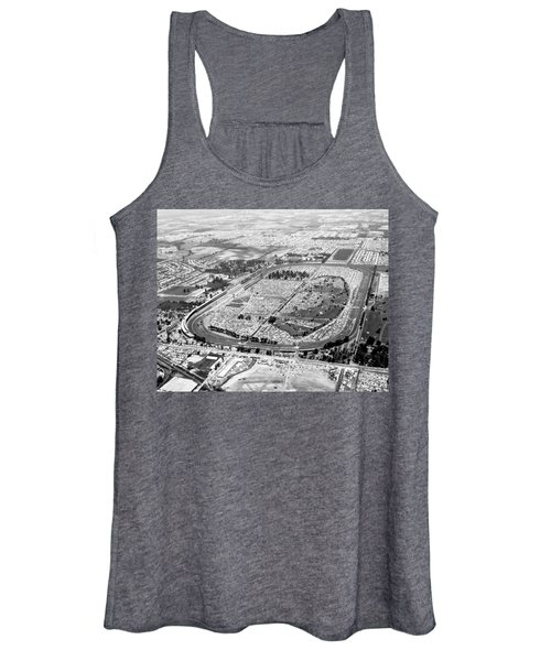 Aerial Of Indy 500 Women's Tank Top