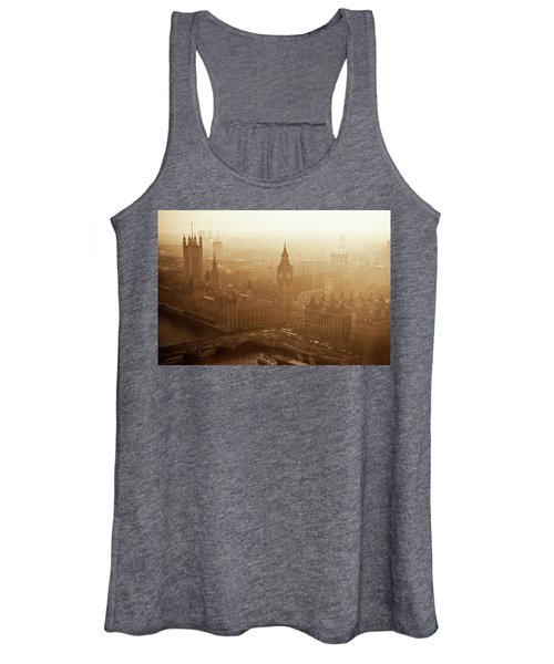 Aerial View Of Big Ben And The Palace Women's Tank Top