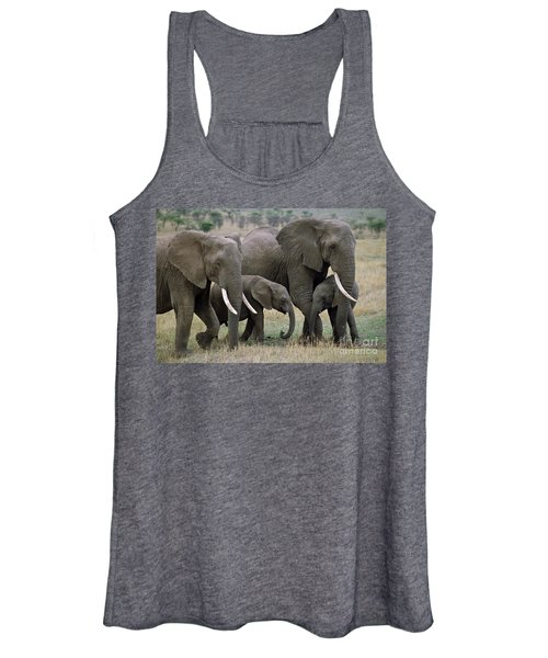 African Elephant Females And Calves Women's Tank Top
