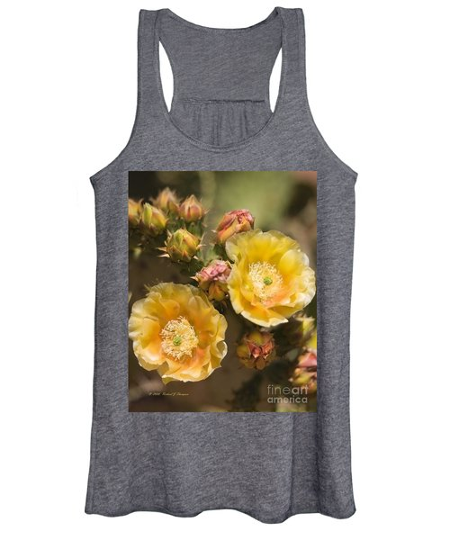 'albispina' Cactus Blooms Women's Tank Top