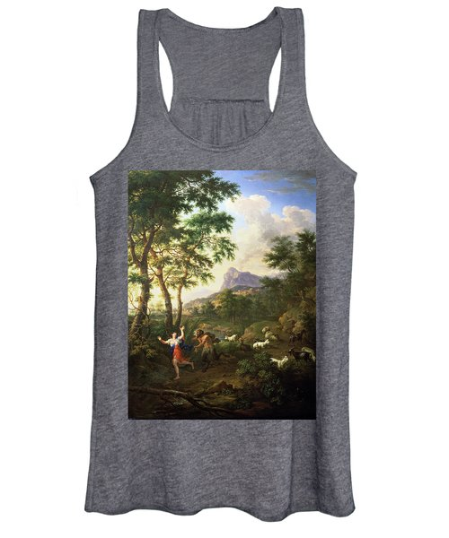 An Arcadian Landscape With Pan And Syrinx Women's Tank Top