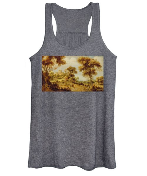 An Extensive Wooded Landscape Women's Tank Top