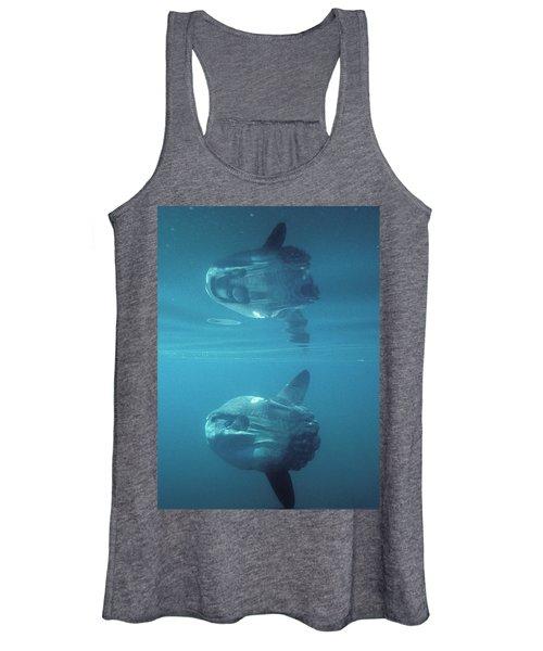 An Ocean Sunfish Swims Close Women's Tank Top